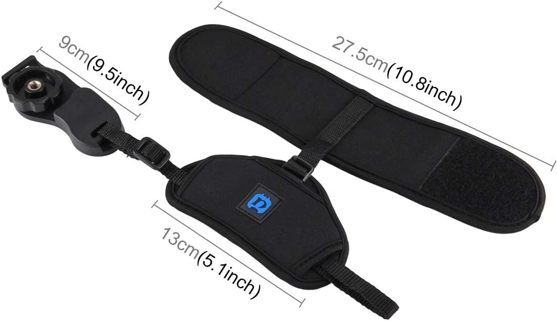 Soft Neoprene Hand Grip Wrist Strap with 1//4 inch Screw Plastic Plate for SLR//DSLR Cameras Durable