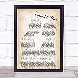 Ed Sheeran Supermarket Flowers Song Lyric Man Lady Bride Groom Wedding Print