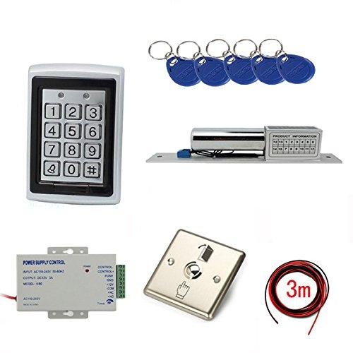 Metal Case Kits de sistemas de seguridad de control de acceso RFID con eléctrico cerrojo de acero inoxidable salida de...