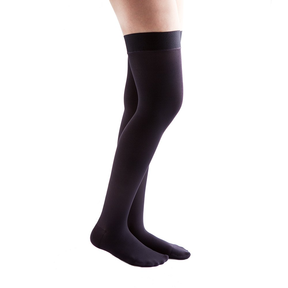 VenActive Women's Opaque 15-20 mmHg Compression Stockings Thigh High, Closed Toe