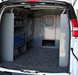 Van Safety Partition, Bulkhead/Divider with 10 inch opening at floor level Ford Econoline