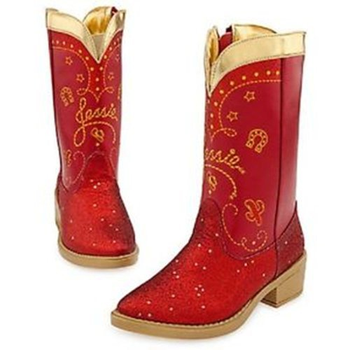 Disney Exclusive Toy Story 3 Red Sparkle Jessie Boots 9 10