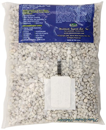 Pictures of Pure Water Pebbles Aquarium Gravel 2-Pound 70012 white 0.5 In Wide/4ft. 3