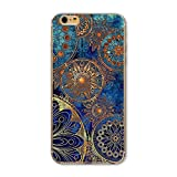 iPhone 6S Plus/6 Plus Case(5.5 inch),Blingy's Creative Art Pattern Series TPU Bumper+Aesthetic Printed Hard PC Back Cover Protective Flexible Case for iPhone 6S Plus/6 Plus (Vintage Tapestry)