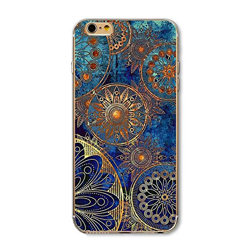 iPhone 6S Plus/6 Plus Case(5.5 inch),Blingy's Creative Art Pattern Series TPU Bumper+Aesthetic Printed Hard PC Back Cover Protective Flexible Case for iPhone 6S Plus/6 Plus (Vintage - Aesthetic Vintage