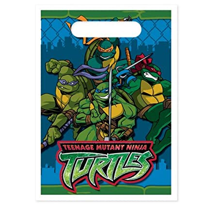 Amazon.com: Teenage Mutant Ninja Turtles Treat Sacos, 8 ct ...