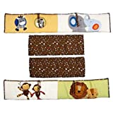 lambs and ivy baby bedding bumper - Lambs & Ivy S.S. Noah Ark 4 Piece Nursery Baby Crib Bedding Bumper Set | 519002B