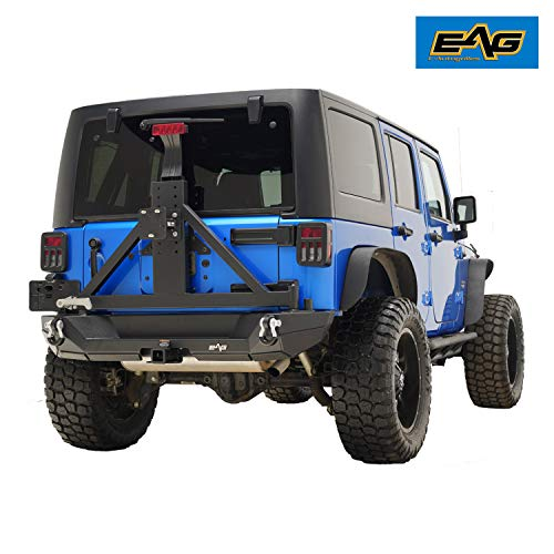 EAG Rear Bumper with Hitch Receiver for 07-18 Jeep Wrangler JK offroad