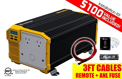 Price comparison product image KRIËGER 4000 Watt 12V Power Inverter,  Dual 110V AC outlets,  Automotive back up power supply for refrigerators,  microwaves,  coffee makers,  Chainsaws,  vacuums