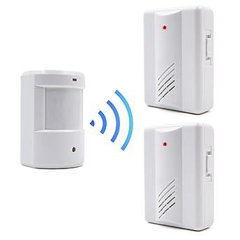 Surwin Alarma de seguridad Detector de presencia Timbre Inalámbrico Portátil impermeable Avisador de Puerta