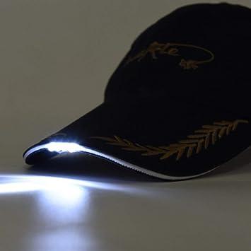 Lorenlli Sombrero de béisbol Multiusos Gorra de Pesca Nocturna con ...