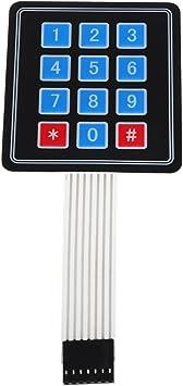 SODIAL(R) Teclado Interruptor de Membrana 4 x3 12 Teclas ...