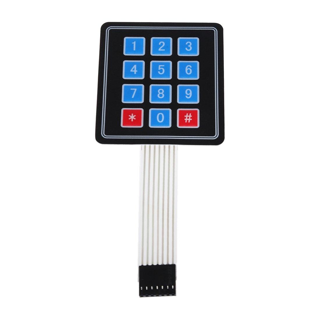 SODIAL(R) New 4 x3 12 Key Matrix Array Membrane Switch Keypad Keyboard For Arduino 014599