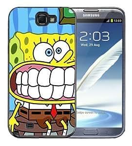 For SamSung Galaxy S4 Case Cover BlackSponge Bob Square Pants Spongebob Squarepants