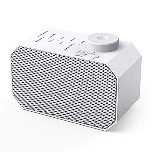 2019 New White Noise Machine, 9 Non-Looping Soothing Sounds Sleep Sound Machine, with Auto-Off Timer Sleeping Sound Therapy for Baby Adult Traveler, Portable for Home Office Travel