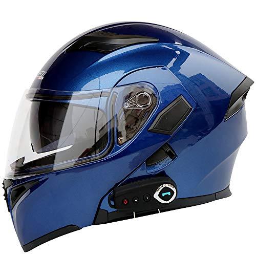 GNB Modulare Motorradhelme Bluetooth + FM DOT-Zertifizierung Flip Up Touring-Helme Integrierter Bluetooth-Kopfhörer mit…