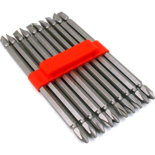 """10 Double End Slotted Phillips Screwdriver Bits Tool 6"""""""