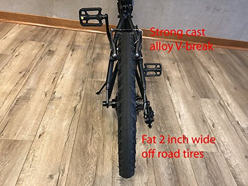 "EuroMini Via 20"" Folding Bike-Lightweight Aluminum Frame Genuine Shimano 7-speed 26lb by EuroMini (Image #5)"