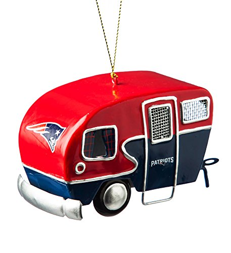 Team Sports America Metal New England Patriots Camper Ornament