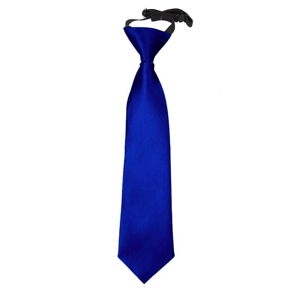 DQT New Boys Plain Satin Formal Casual Page Boy Communion School Wedding Elastic Pre-tied Neck Tie 2-7 Years Old
