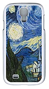 samsung galaxy s4 case,custom samsung galaxy s4 i9500 case,TPU Material,Drop Protection,Shock Absorbent,Customize your own cell phone case pattern,white case,The Starry Night