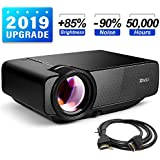 "RAGU Z400 Mini Projector, 2019 Upgraded Full HD 1080P 180"" Display Supported, 50,000 Hrs Home Movie Portable Video Projector for PC/MAC/DVD/TV/Xbox/Movies/Games/Smartphone with HDMI/VGA/USB/AV/SD"