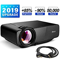 RAGU Z400 Mini Projector, 2019 Upgraded Full HD 1080P 180 Display Supported, 50,000 Hrs Home Movie Projector for PC/MAC/DVD/TV/Xbox/Movies/Games/Smartphone with HDMI/VGA/USB/AV/SD