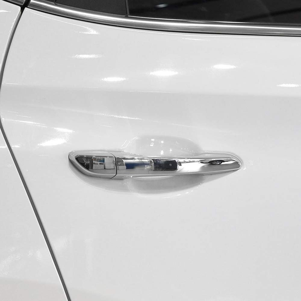 ABS Chrome Side Door Handles Cover Trim 8pcs for Hyundai Tucson 2016-2019 ONLY FIT Left Hand Drive Without Smart Key Holes YUZHONGTIAN