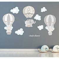 Le Mongolfiere 2 Adesivi murali bambini, Stickers murali bambini, Adesivi murali cameretta