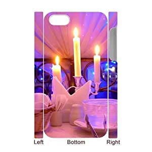 3D Candlelight dinner iPhone 4/4s Case White by icecream design