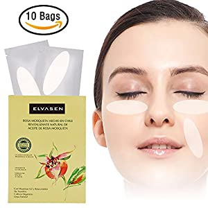 Anti-wrinkle Hydrogel Patch - Facial Smoothies Hydrating Wrinkle Romover Strips Hydrating Mask Treatment with Hydrocolloid Gel during Sleeping (10 bag/Box)