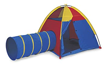 Pacific Play Tents Kids Hide-Me Dome Tent and Crawl Tunnel Combo for Indoor /  sc 1 st  Amazon.com & Amazon.com: Pacific Play Tents Kids Hide-Me Dome Tent and Crawl ...