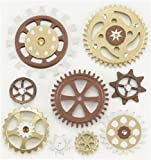 Jolee's Boutique Steampunk Gears Dimensional Stickers