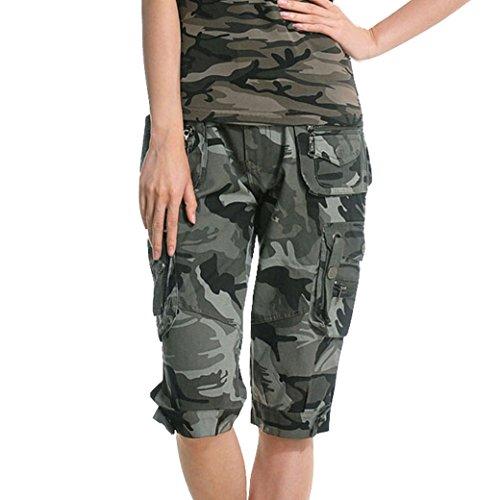 TANGDA Women Cotton Blend Camouflage Camo Printed Short Pants Shorts (6623#) Size M