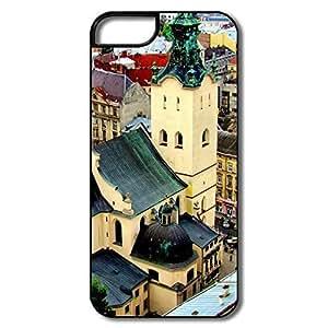 IPhone 5S Hard Plastic Cases, Lviv Ukraine White/black Cover For IPhone 5/5S