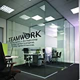 N.SunForest Quotes Wall Decal Teamwork Definition Office Wall Decor Inspirational Lettering Sayings Wall Art Murals