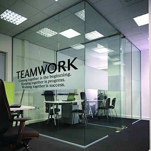N.SunForest Quotes Wall Decal Teamwork Definition Office Wal