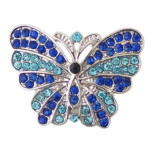 Chunk Snap Charm Butterfly Crystals