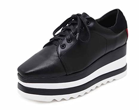 Mujer Cuña Sandalias 2017 Otoño Nuevo Inglaterra Solo Zapatos Rayas De Moda De Espesor Zapatos Planos