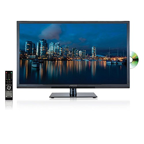 AXESS TVD1801-32 32-Inch LED HDTV, Features VGA/HDMI/SD/USB Inputs, Built-In DVD Player, Full Function Remote (Renewed)