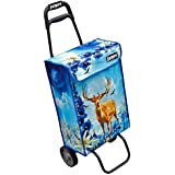 Large Capacity 40 Ltr. Light Weight Wheeled Shopping Bag Folding Trolley Cart by Sabar