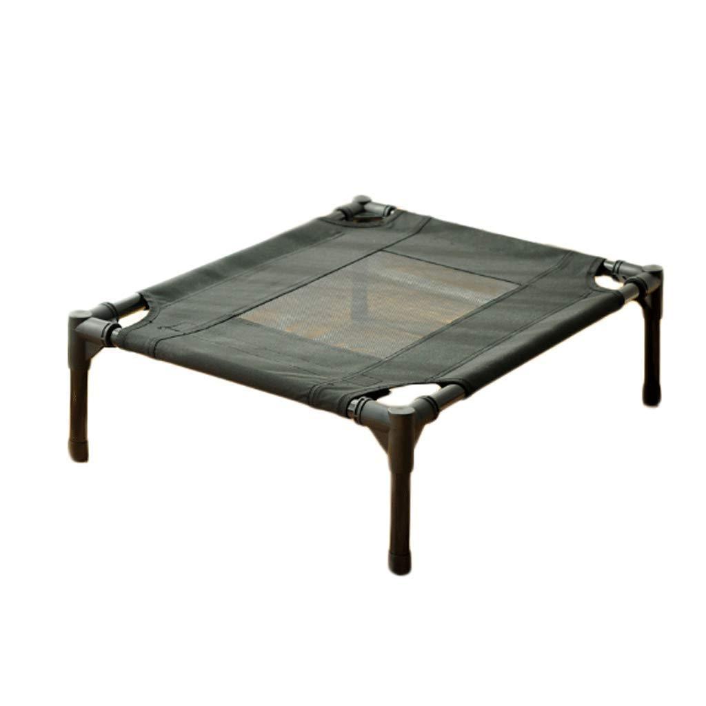 BLACK S (6045.516cm) BLACK S (6045.516cm) GJ Pet Nest Kennel Dog Bed Cat Litter Summer Camp Bed Removable And Washable