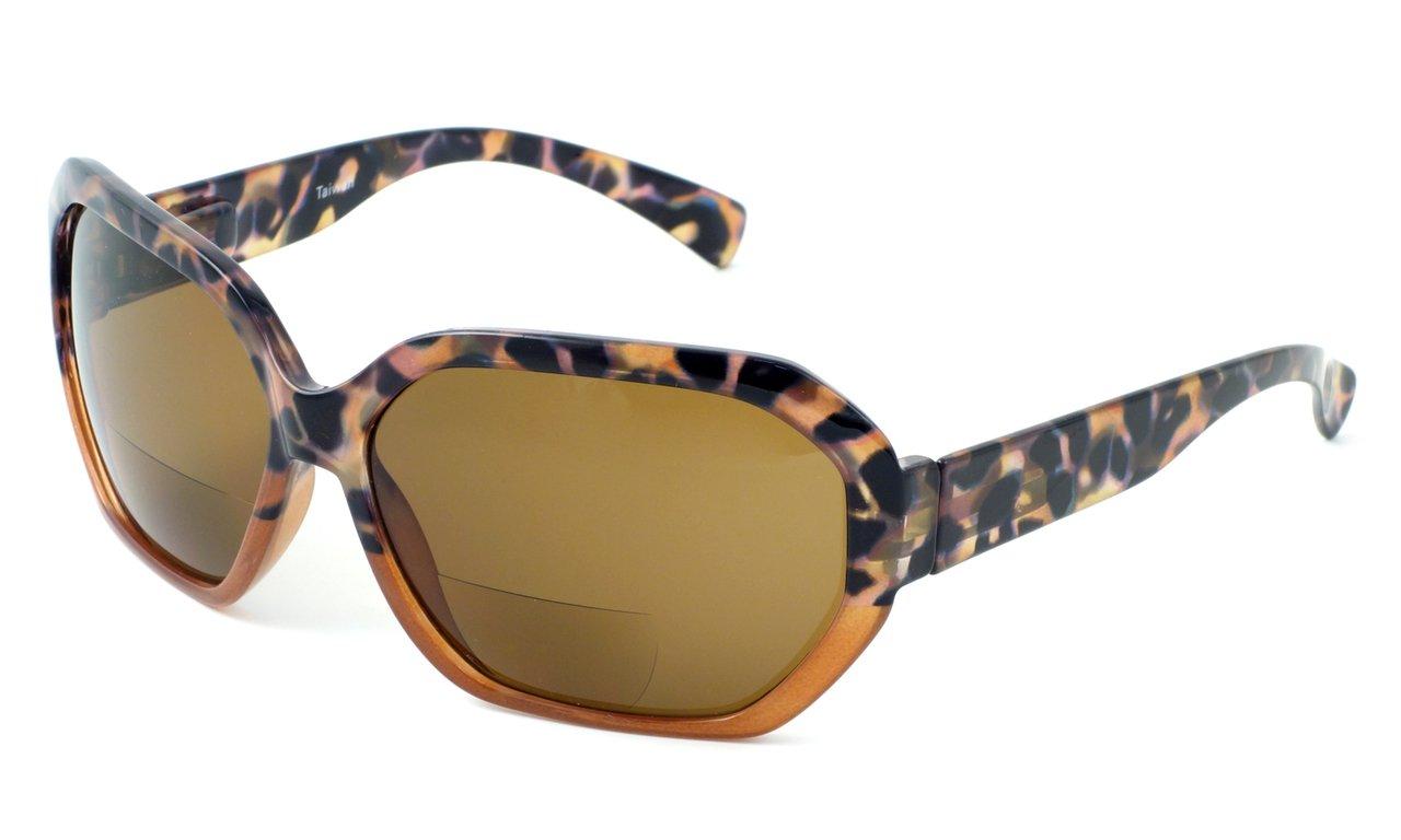 Calabria 644SB Designer Bi-Focal Reading Sunglasses in Caramel +3.00 by Calabria