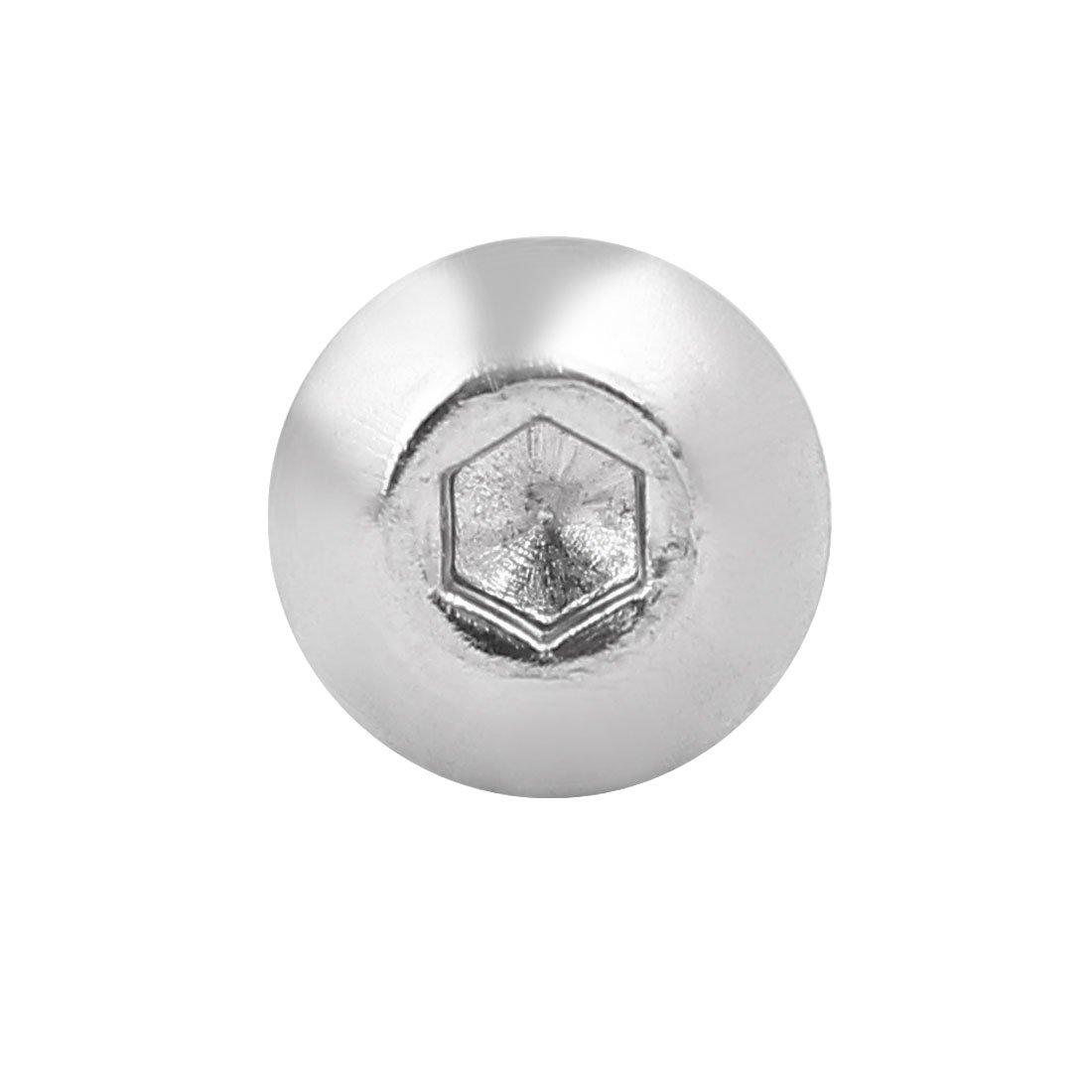 uxcell M5x35mm 304 Stainless Steel Button Head Hex Socket Cap Screws Bolts 50pcs a17022100ux0056