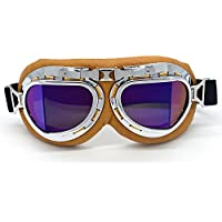 Evomosa Vintage Goggles Aviator Pilot Style Motorcycle...