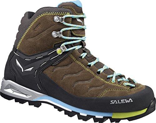 SALEWA WS MTN TRAINER MID GTX - botas de senderismo de material sintético mujer Marrón  /  Negro   (Tarmac / Swing Green 0620)