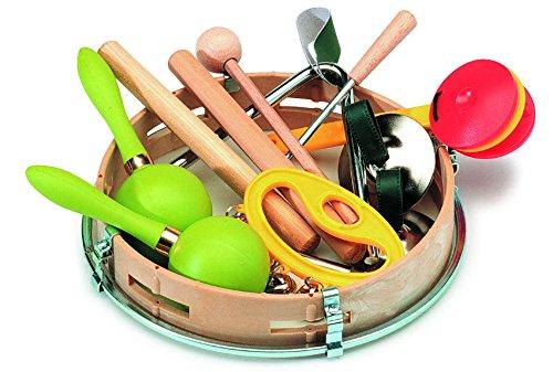 gitre 5003/Paire de Claves avec 7/autres RYTHMIQUES et percussion Instruments de luxe Paquet Mini Set