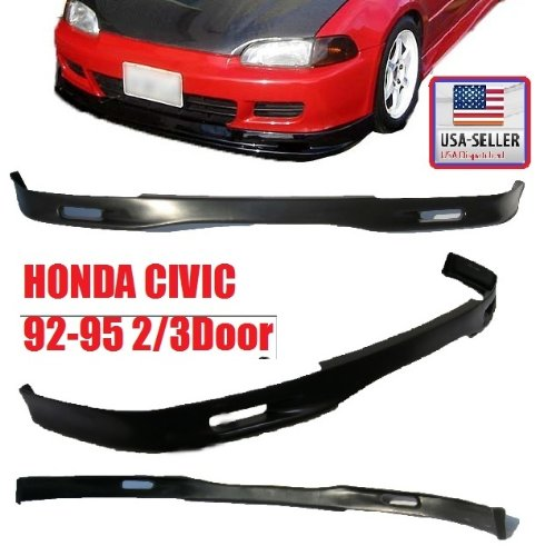 (1992-1995 Eg Honda Civic Ex/cx/dx/vx/si Jdm /Spoon Style Pu Front Bumper Lip 2/3door)