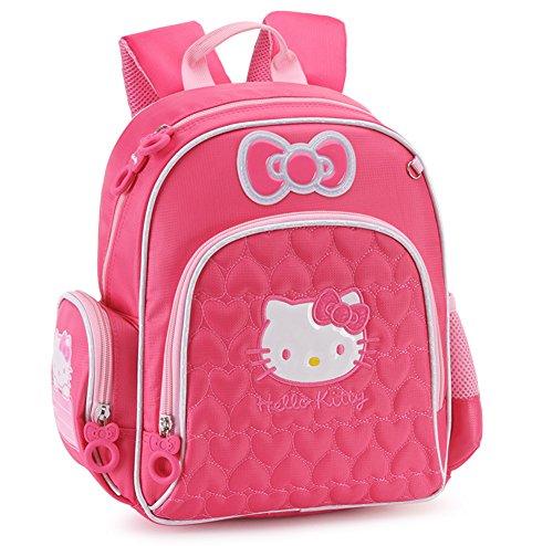 YOURNELO Girl's Cartoon Lovely Hello Kitty Rucksack School B