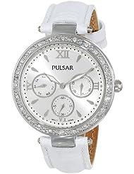 Pulsar Womens PP6115 Analog Display Japanese Quartz White Watch